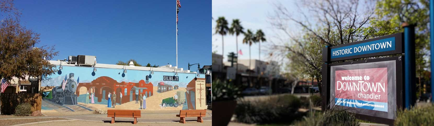 Header image of downtown Chandler and Gilbert